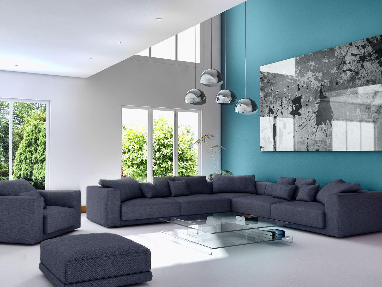 cuisine murs bleus marine - Qwant Recherche | Murs bleu marine, Salon bleu canard, Deco salon design