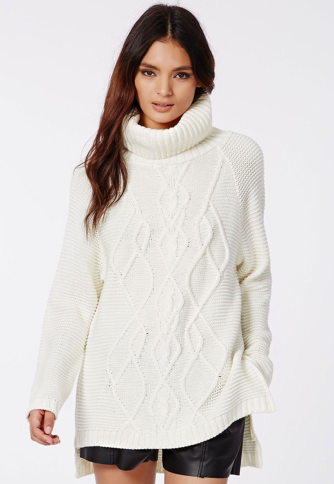 Polo neck dress jumper long