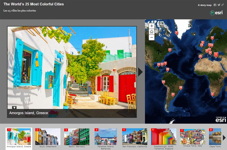 The World's 25 Most Colorful Cities - #Esri #storymap