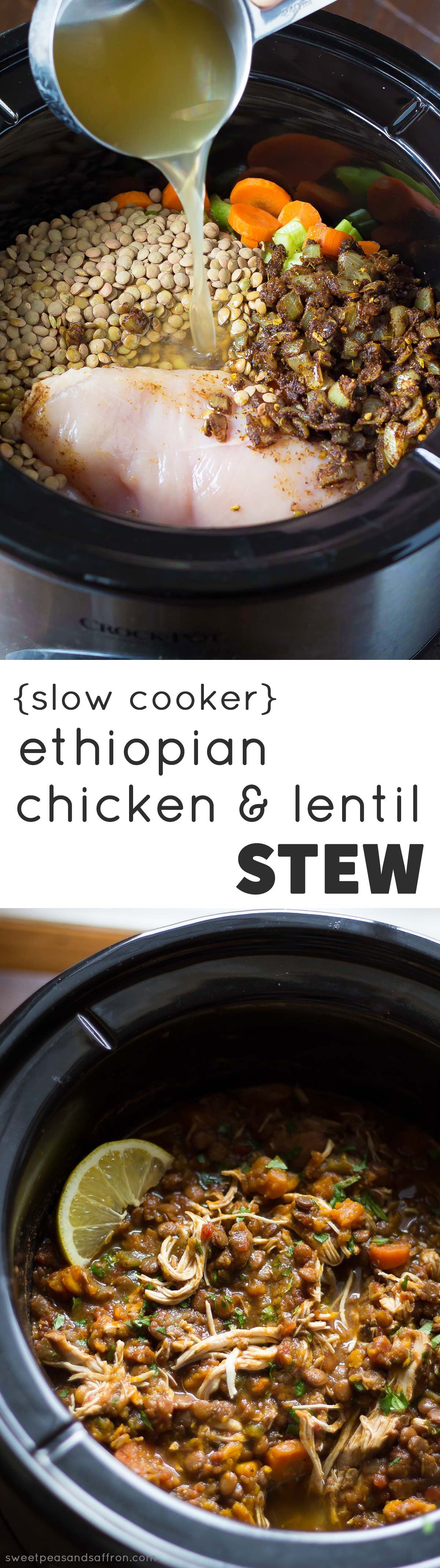 Slow Cooker Ethiopian Chicken  Lentil Stew  Recipe  Blogger Recipes -3329