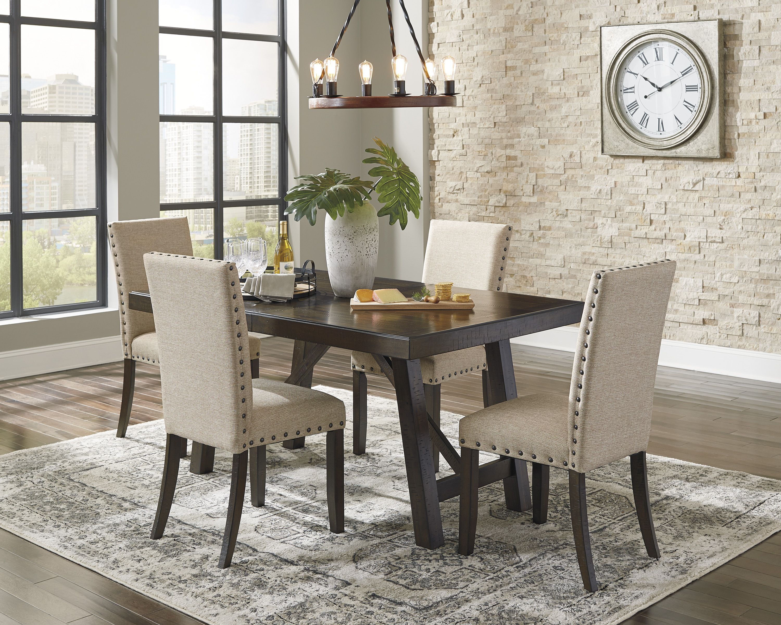 Rokane 5 Piece Dining Room Package Luxury Dining Room Dining