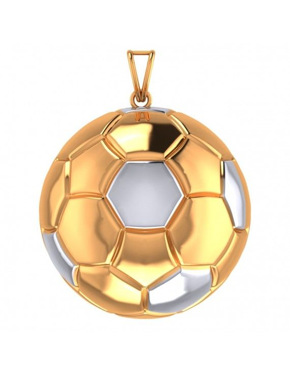 Football shaped gold plated silver pendant for football lovers football shaped gold plated silver pendant for football lovers aloadofball Image collections