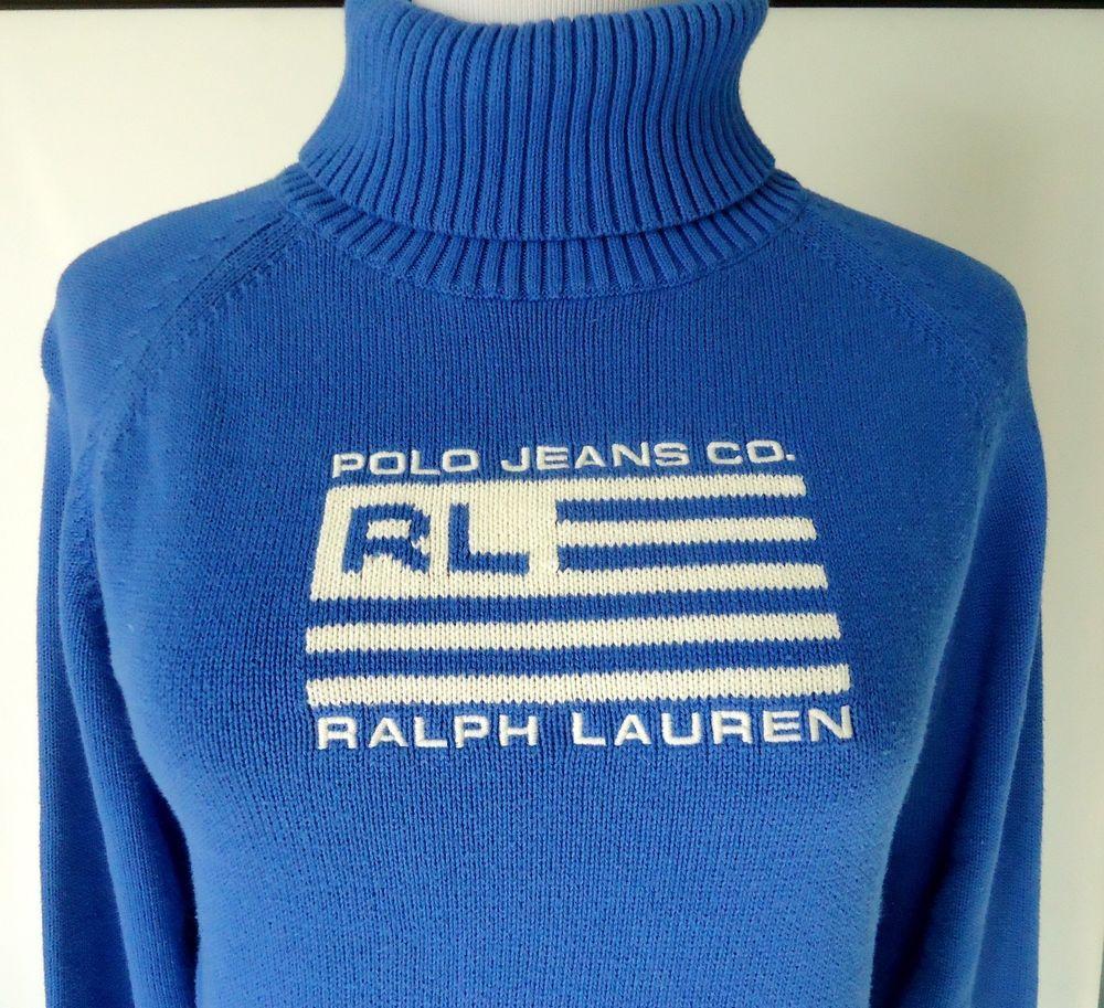 Cotton Flag Xl Womens Co Lauren Sweater Polo Ralph Jeans Turtleneck Ok0P8wXNn