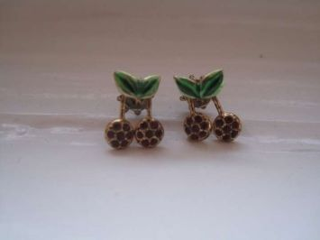 Juicy Couture Gold Plated Cherry (post) Jewelry $30
