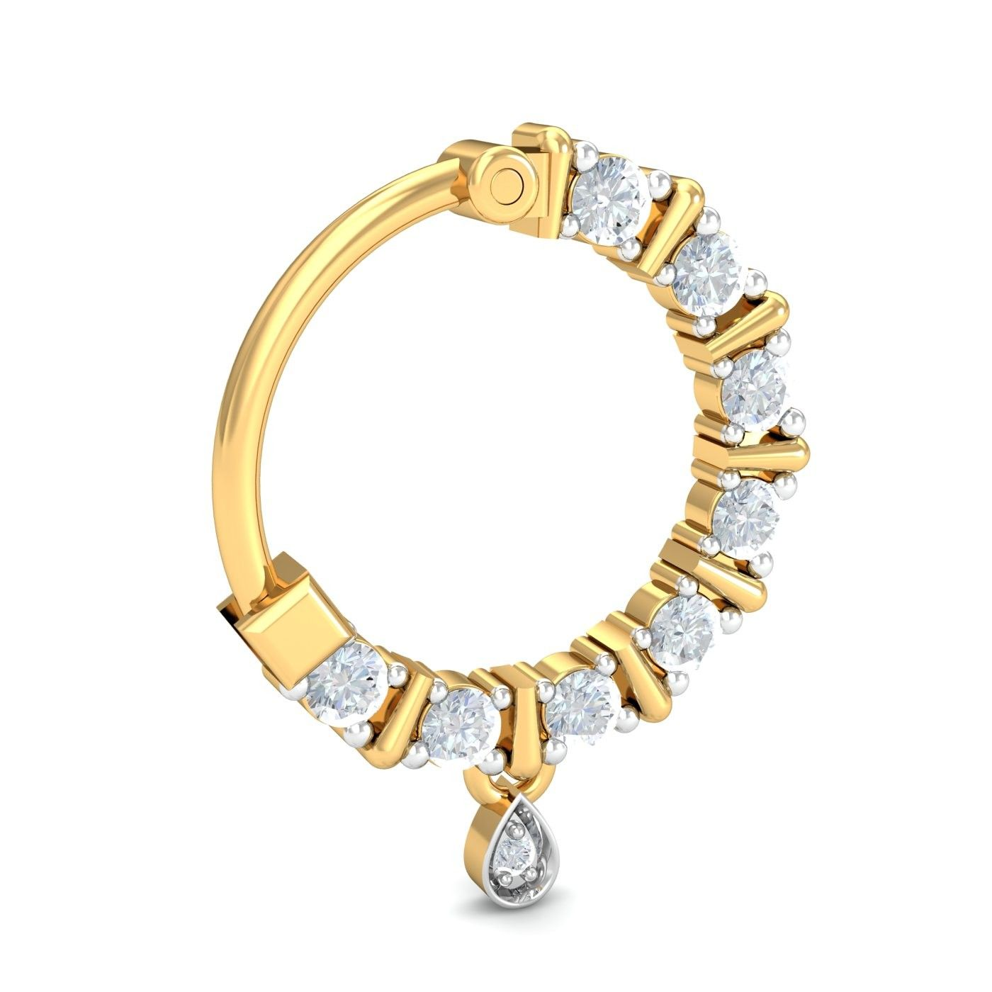 About nath nose ring mukku pudaka on pinterest jewellery gold nose - Ring