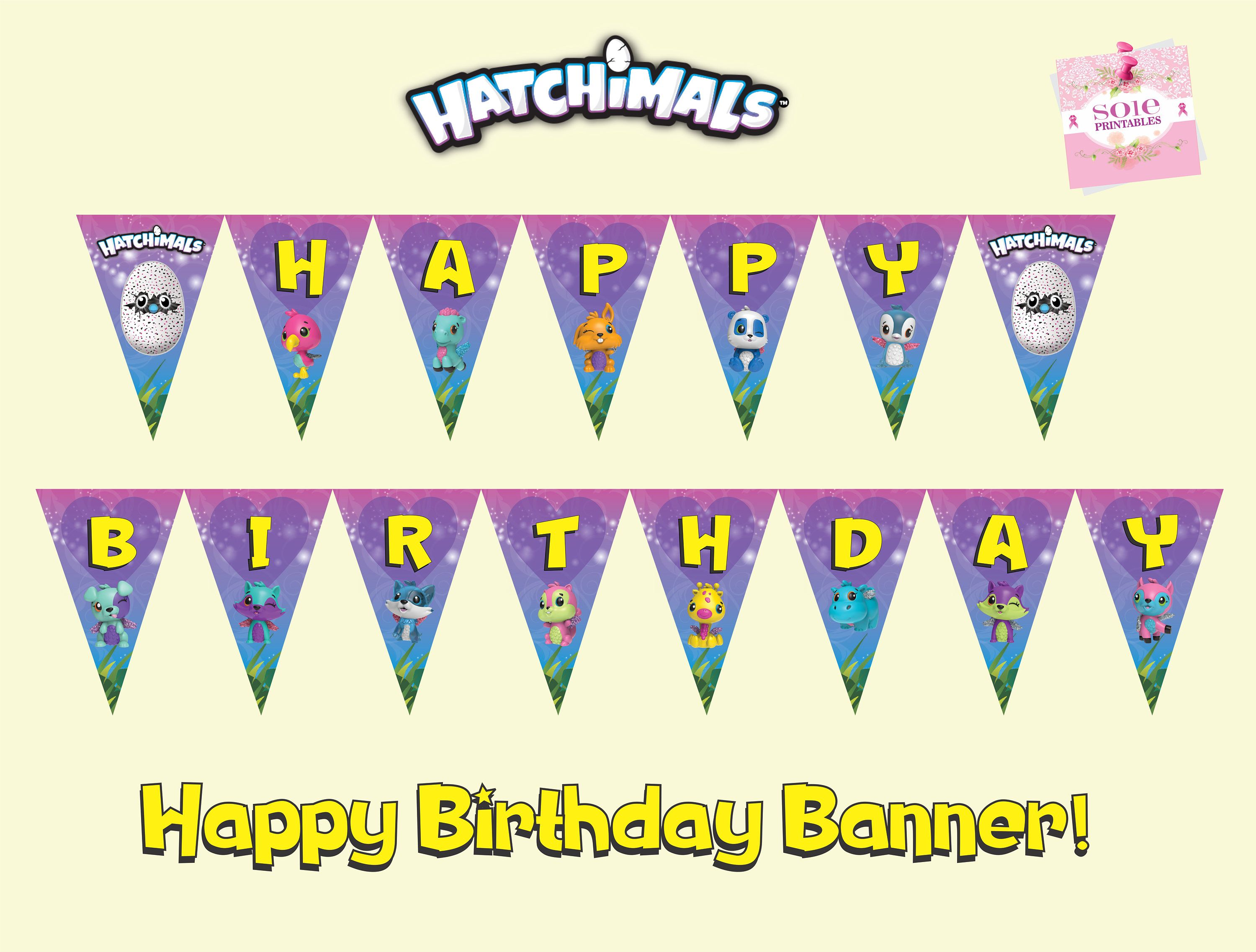 Hatchimals Colleggtibles Flag Banner Happy Birthday Instant Download By SolePrintables On Etsy