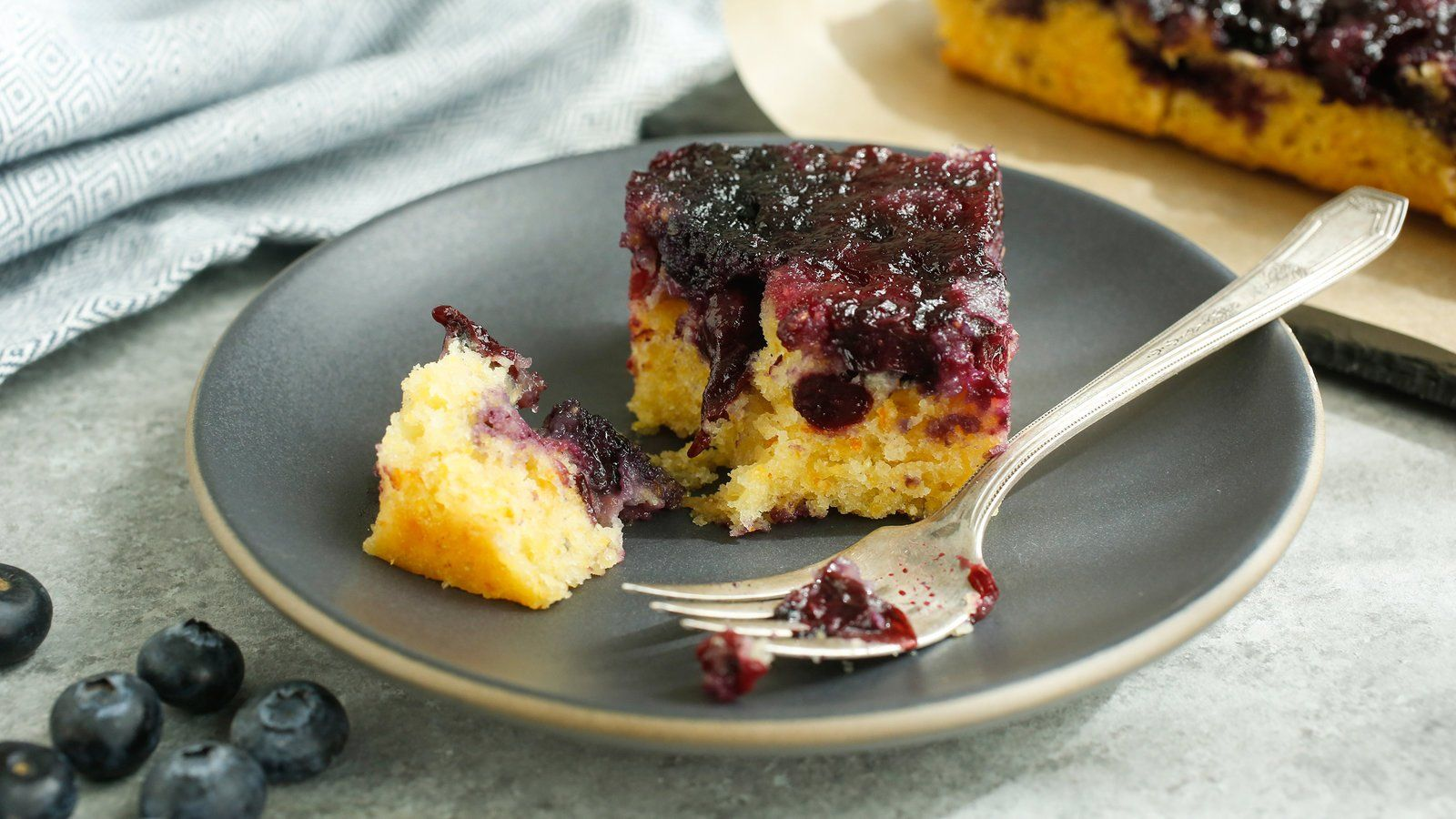 Blueberry polenta upsidedown cake recipe recipe