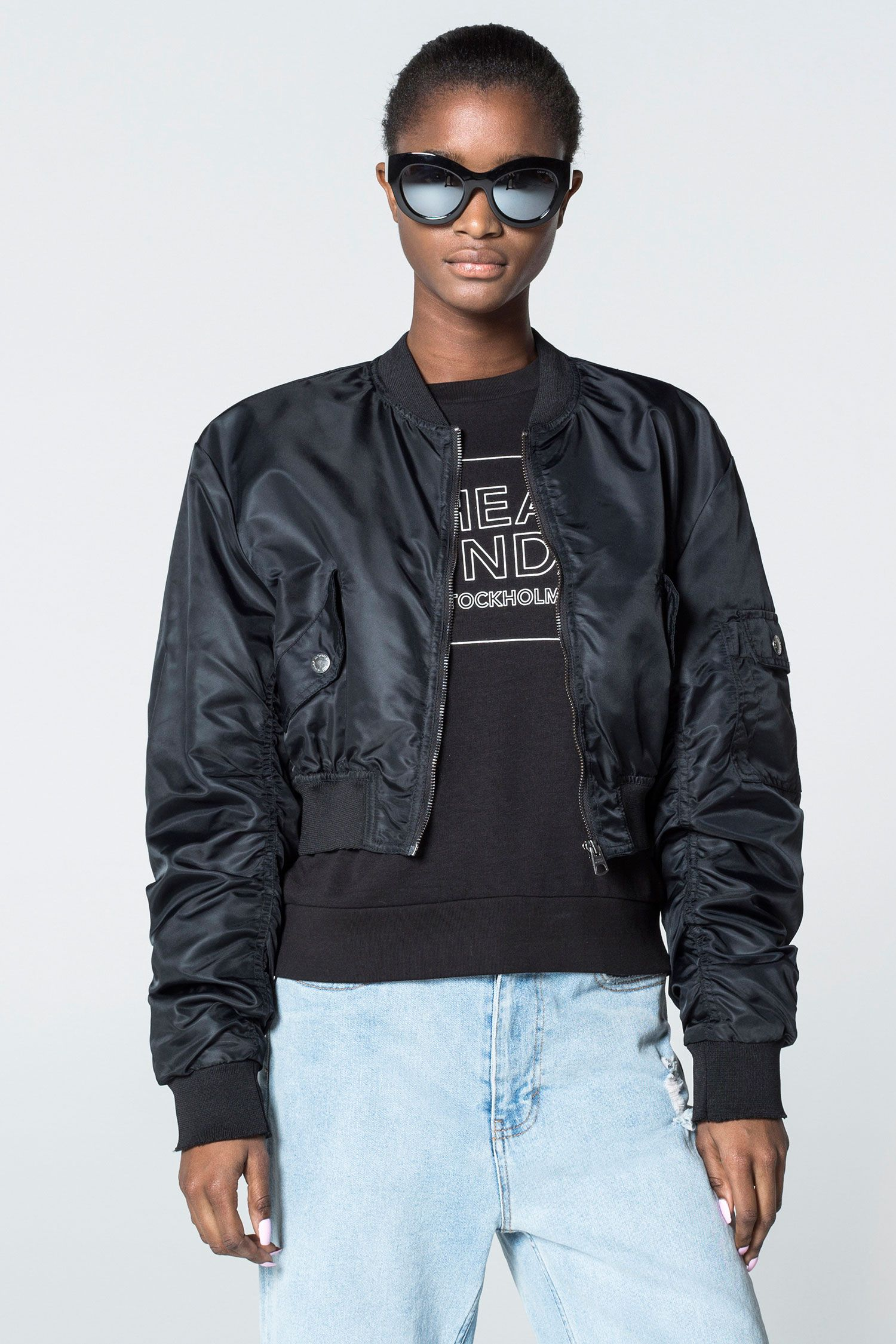 ce643754d Cheap Monday Image 1 of Bling Bomber in Black | o | Bomber jacket ...