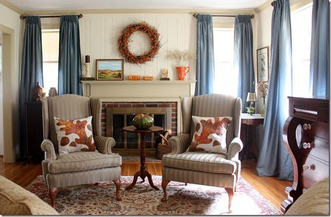 Fall Mantel And Living Room Decor Sweet Pea