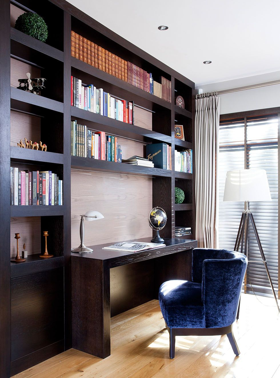 A bespoke bookcase built for home office storage home office