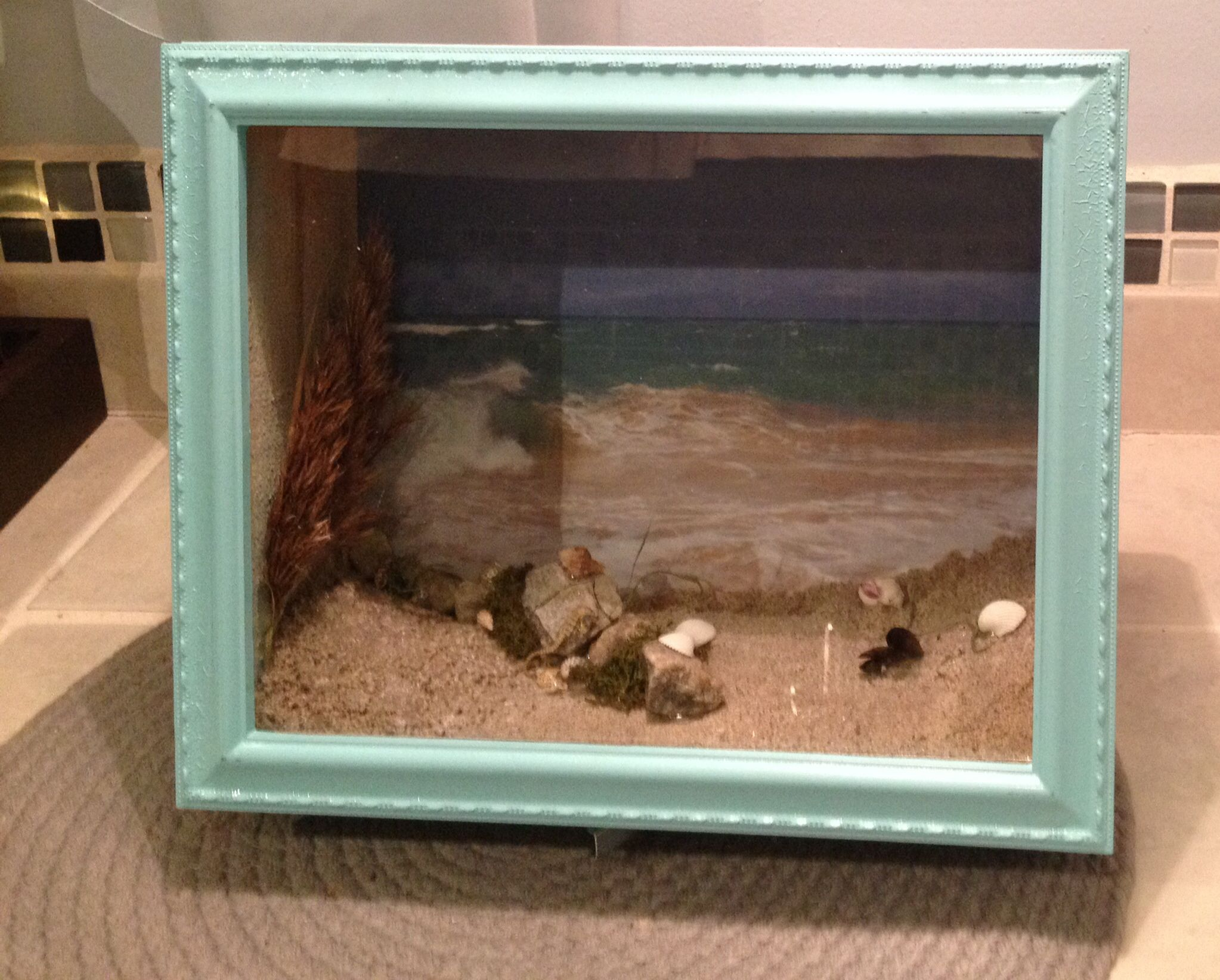 Beach theme shadow box ,for more info to purchase @Etsy ...