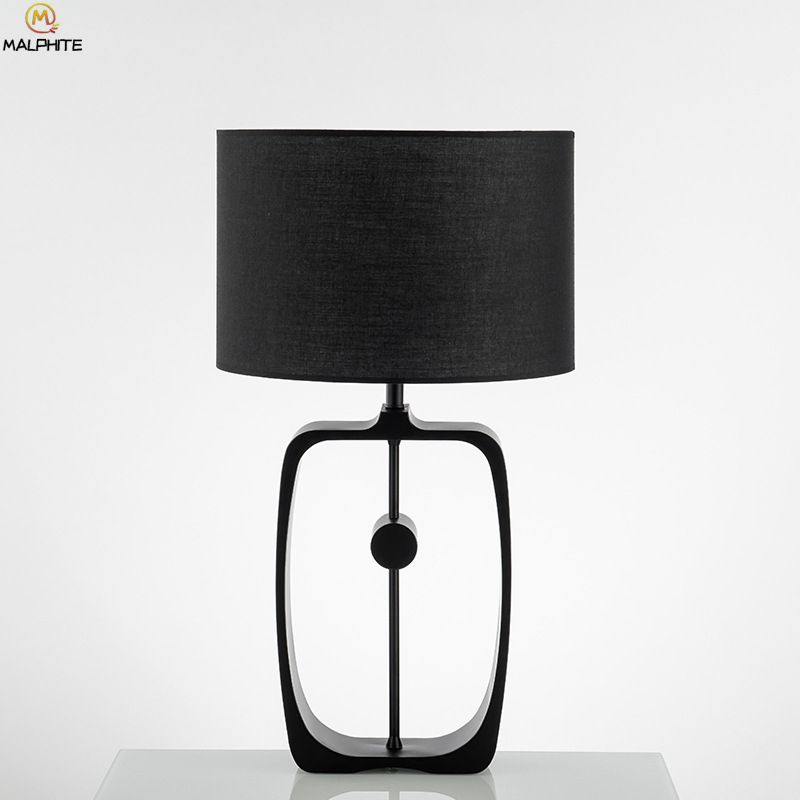 American Black Iron Industrial Table Lamp Nordic Bedroom Lamps Table Modern Hollow Table Light Home Deco Bedside Lamp Luminaria Industrial Table Lamp Modern Table Lamp Bedside Lamp