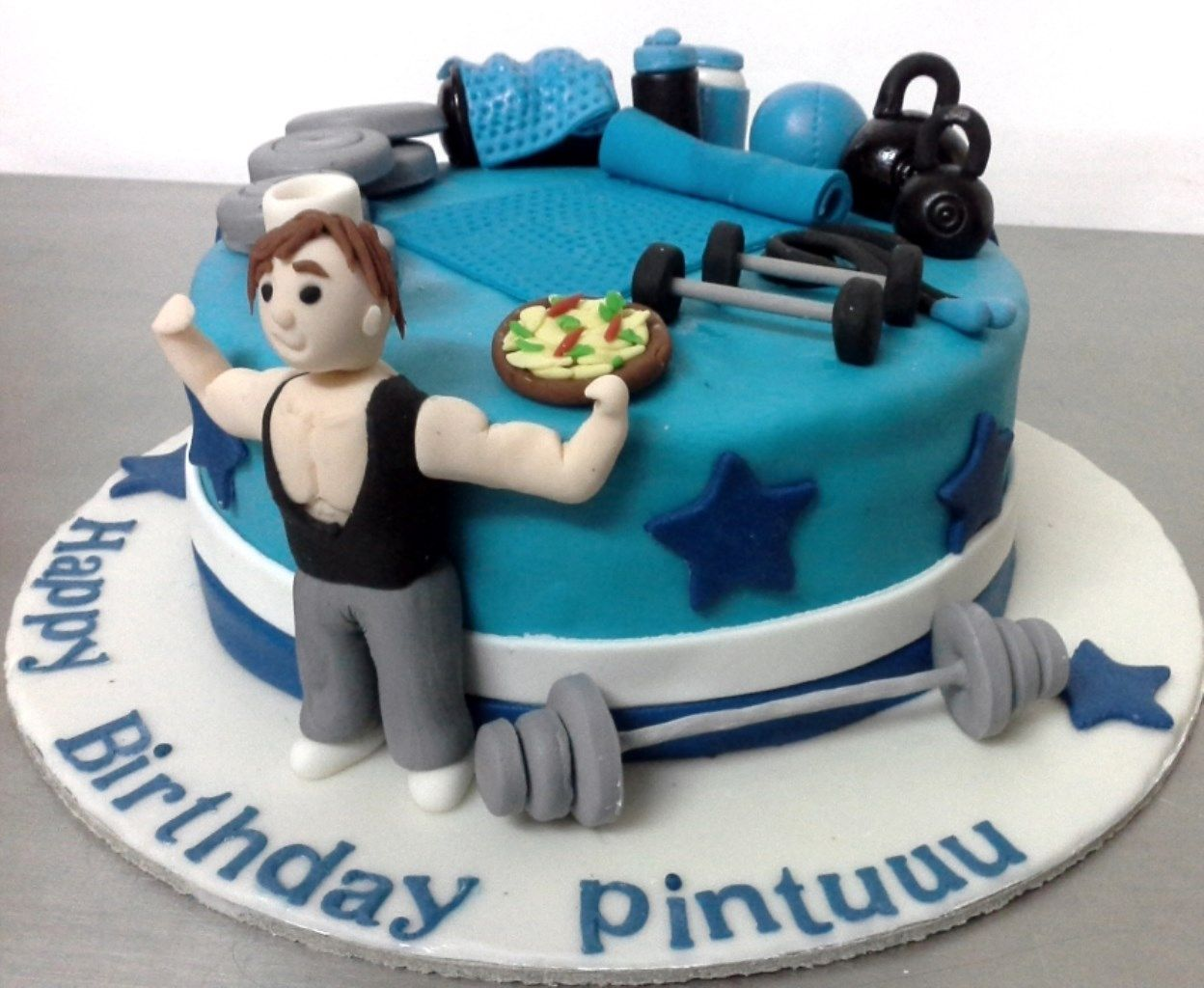 Stupendous Pintoscakegym Cake Birthday Cake With Photo Gym Cake Personalised Birthday Cards Epsylily Jamesorg