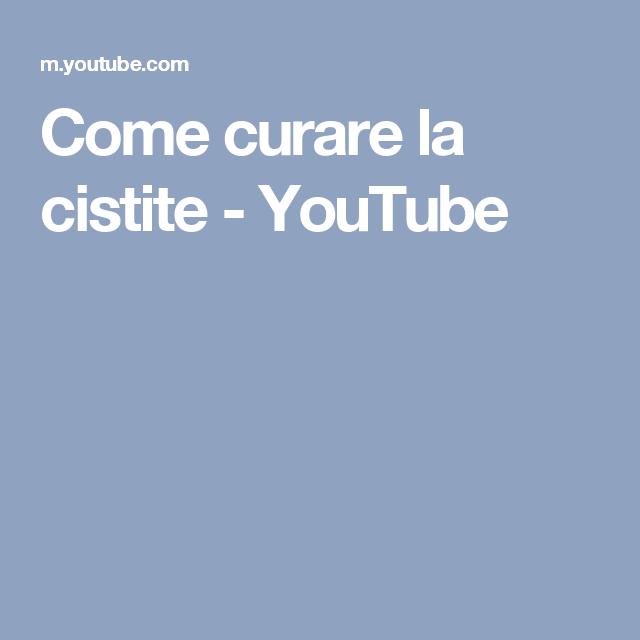 Come curare la cistite - YouTube