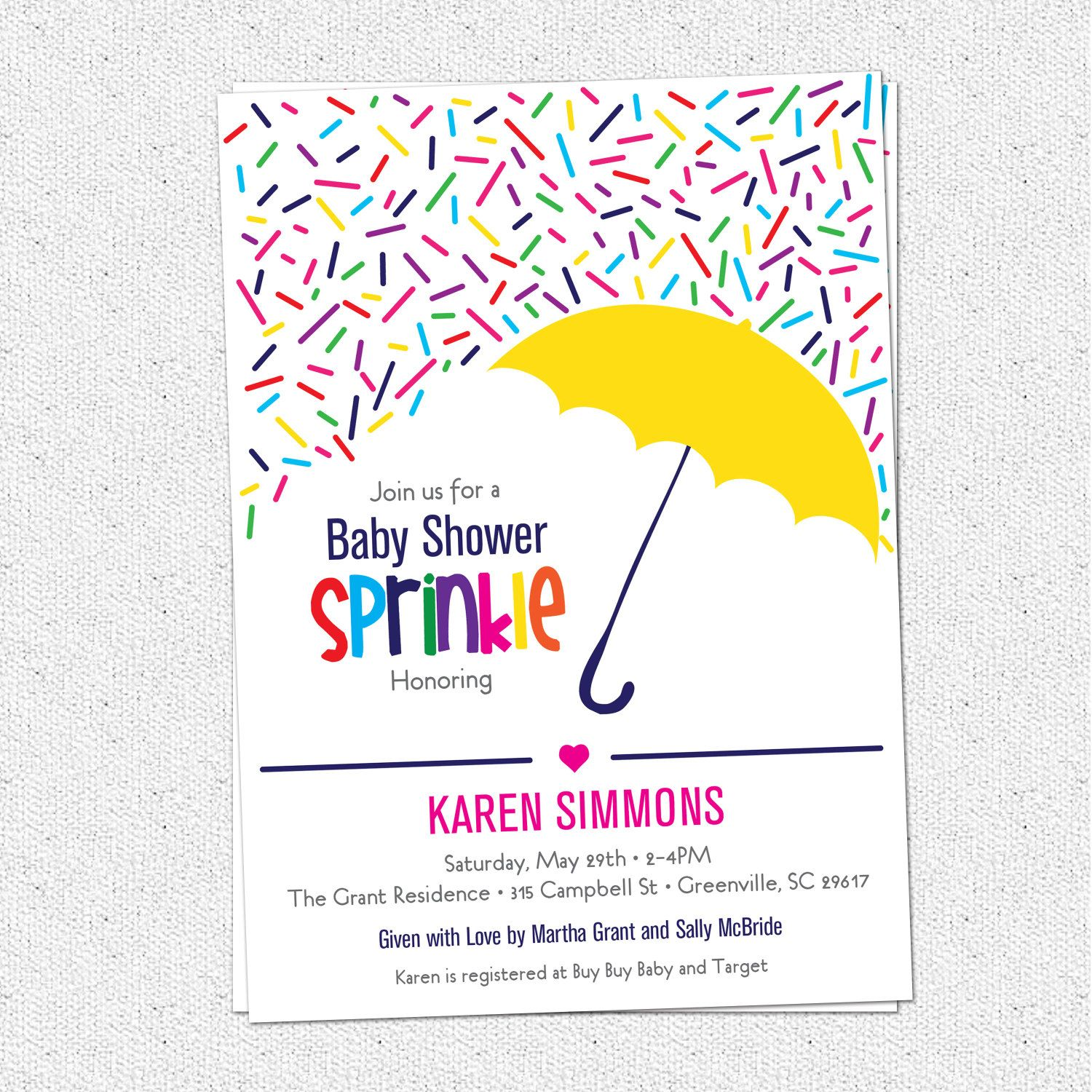 Free Free Template Sparingkle Baby Shower Invitation