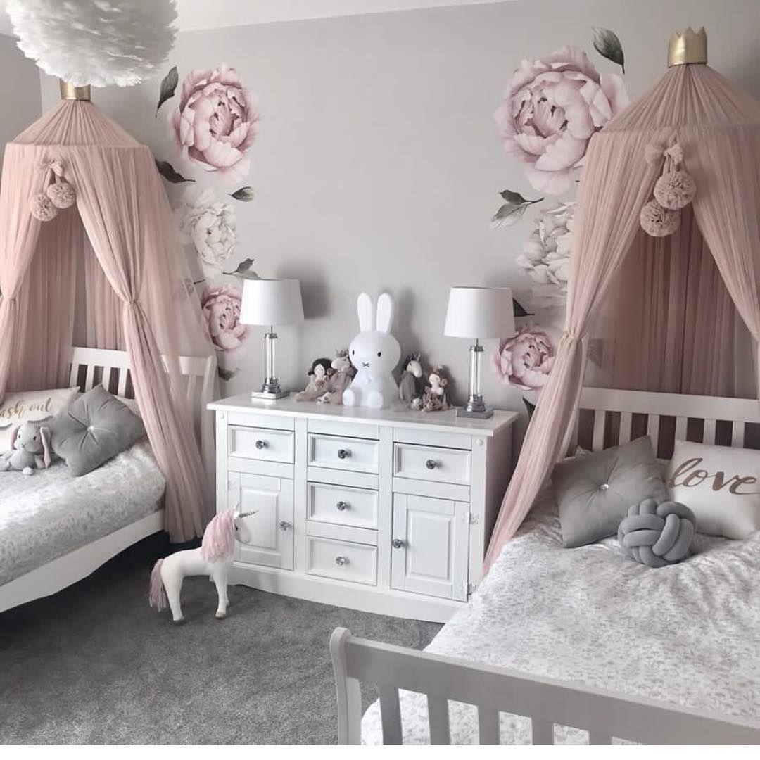 Wir lieben das Mädchen Geschwisterzimmer von love luxe interiors ...   Home Decors Ideas 2020 ...