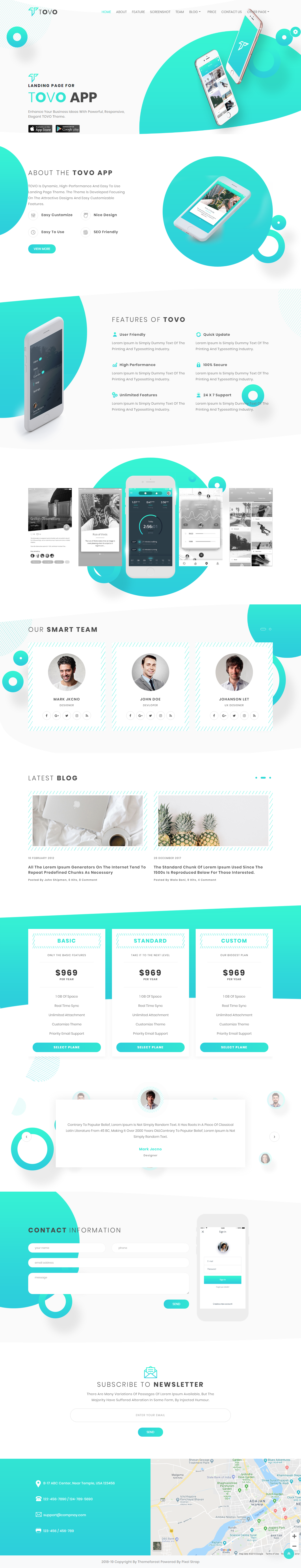 Bootstrap Landing Page | Mobile App Bootstrap Landing Page | App
