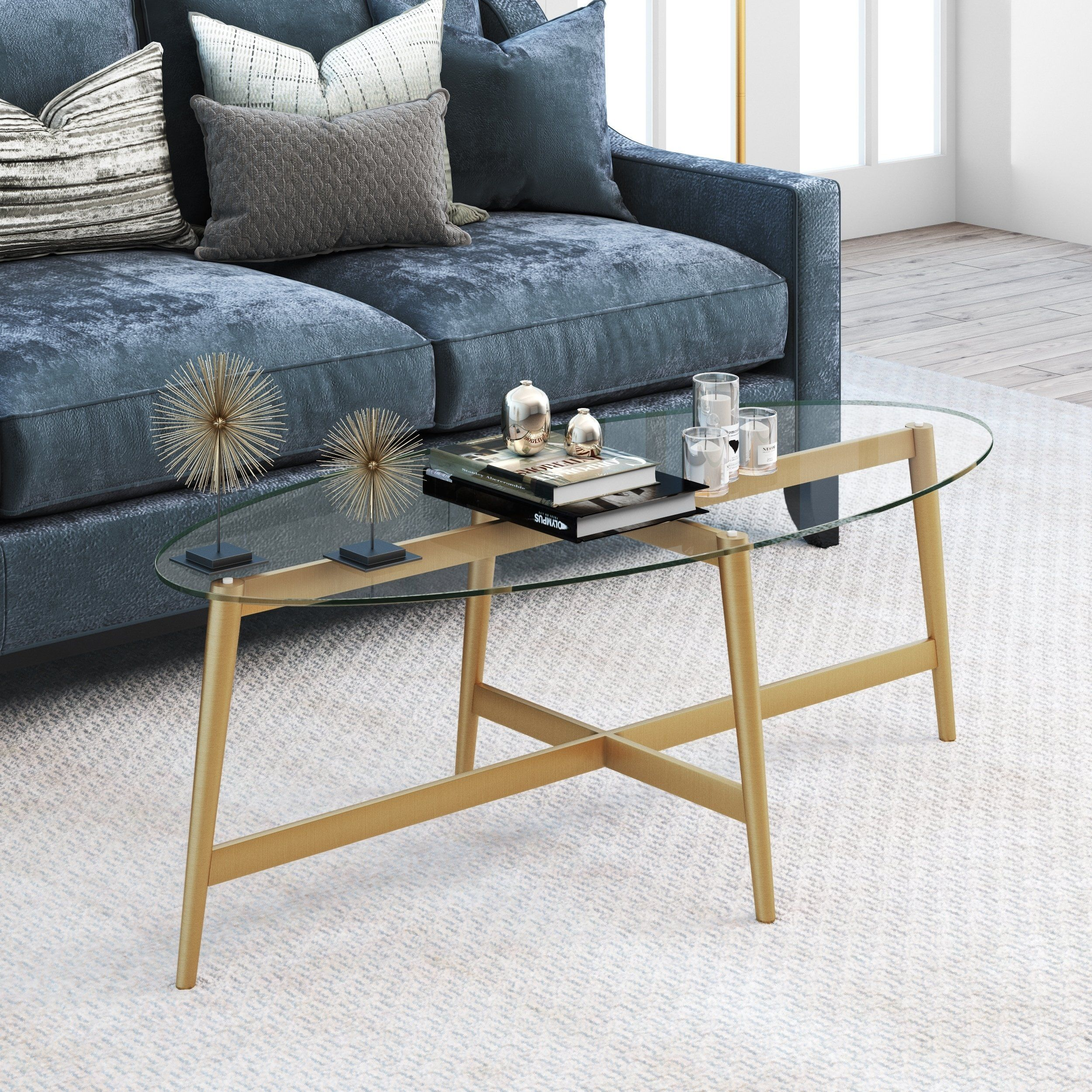 Olson Oval Gold Finish Metal Coffee Table With Glass Top In 2021 Oval Glass Coffee Table Oval Coffee Tables Coffee Table [ 2500 x 2500 Pixel ]