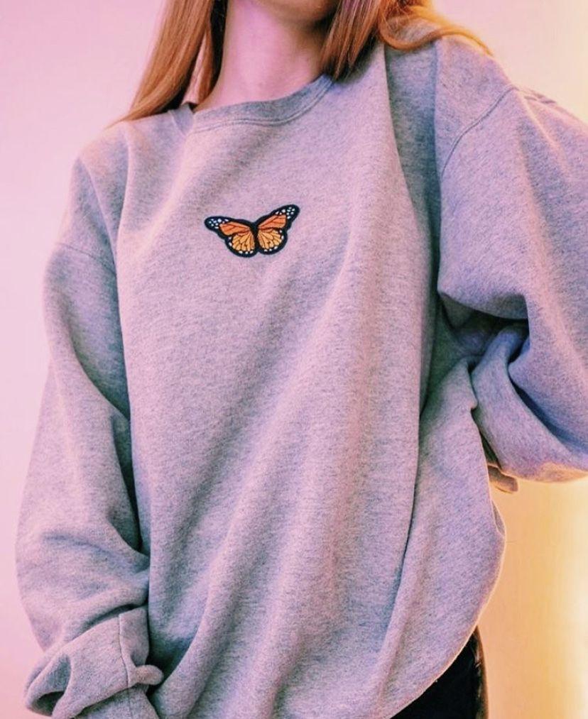 Butterfly Sweatshirt Sweatshirts Stylish Hoodies Hoddies Outfits [ 1013 x 828 Pixel ]