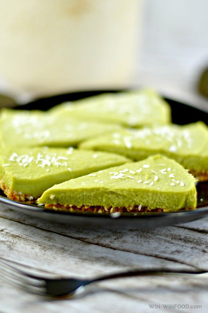 Raw Vegan Key Lime Pie | WIN-WIN FOOD