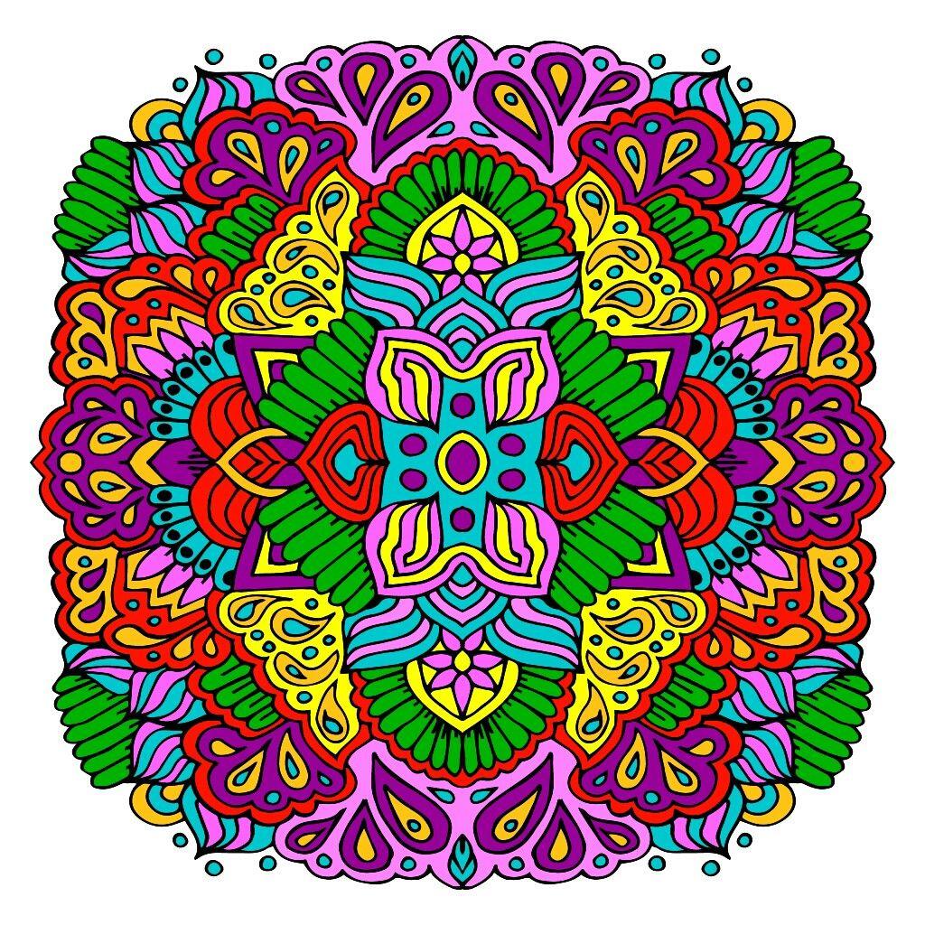 Pin by Csilla Kristóf on rajz Happy colors, Mandala