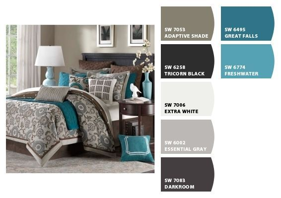 Evening Serenity Brown or Gray Background Bedroom Bathroom Home D\u00e9cor Wall Art Pictures Canvas Wrapped Picture Teal D\u00e9cor