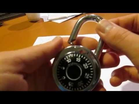 Cracking A Combination Lock Without Picking Super Easy Youtube Combination Locks Lock Masterlock