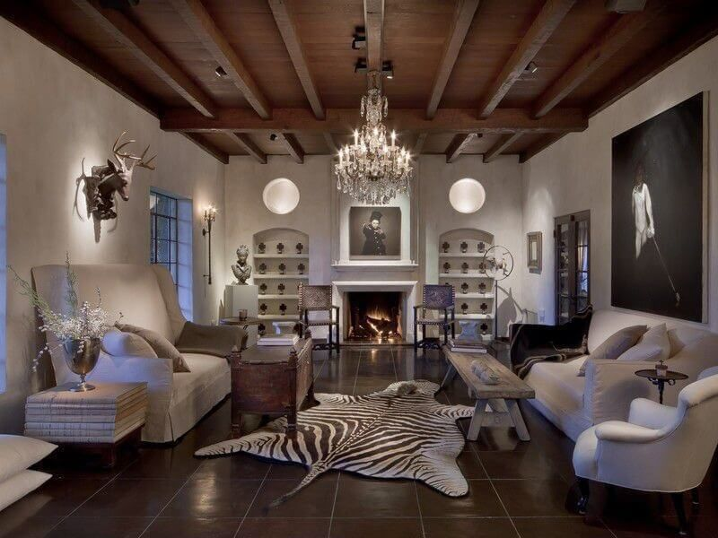 17 Zebra Living Room Decor Ideas (Pictures) | Floor decor, Tile ...