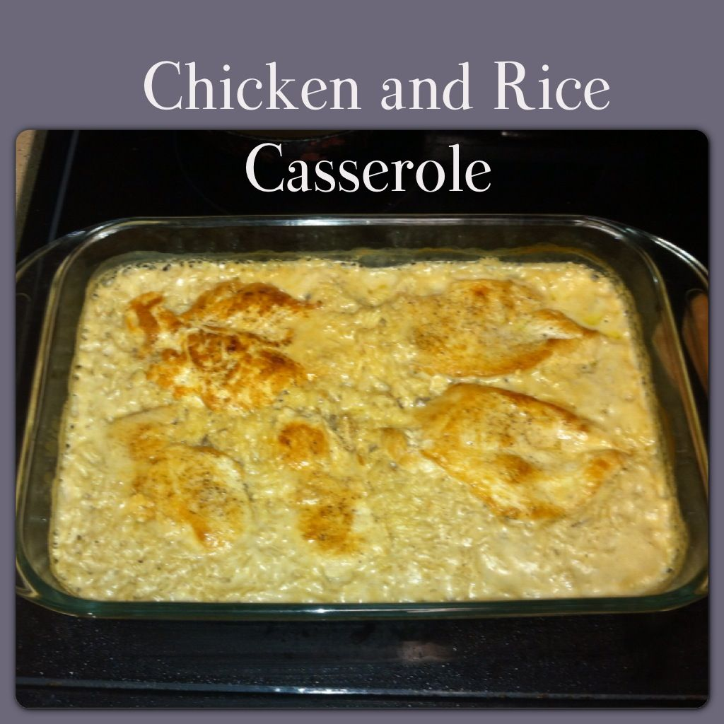 Easy Chicken And Rice Casserole. 1 Can Cream Of Mushroom