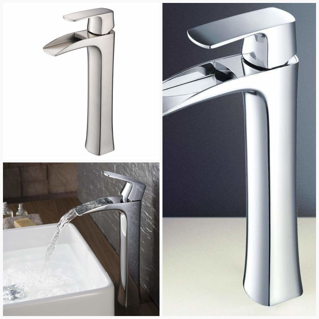 Fresca Fortore Single Hole Vessel Mount Bathroom Vanity Faucet