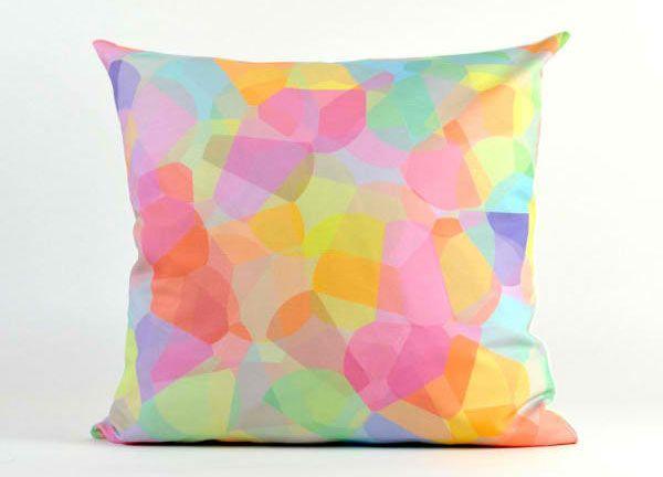 20 Soothing Geometric Pastel Modern Throw Pillows