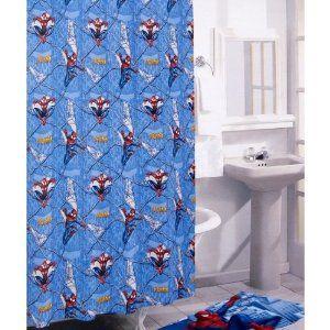 Amazon Com The Amazing Spider Man Shower Curtain Vinyl Shower Curtain Bedding Bath Vinyl Shower Curtains Kids Shower Curtain Man Shower
