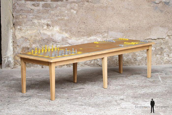 Table Basse Detournee Jeux Echec Et Backgammon Table Basse Decoration Creative Table Basse Vintage