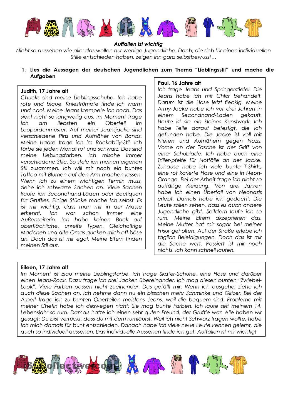 Aussehen, Kleidung | German for beginners | Learn german ...