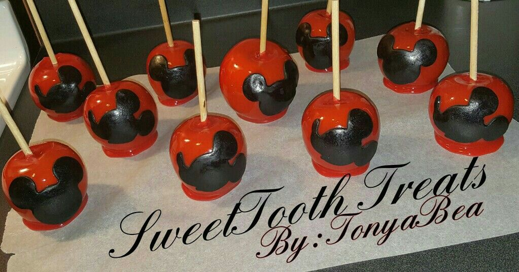 Mickey Mouse Themed Candy Apples