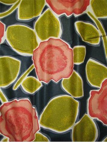 Beale Garden Poppy   Dwell Studio Fabric   100% Heavy Cotton Sateen Multi  Purpose Home