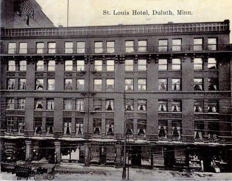 St Louis Hotel Duluth Minnesota 1909