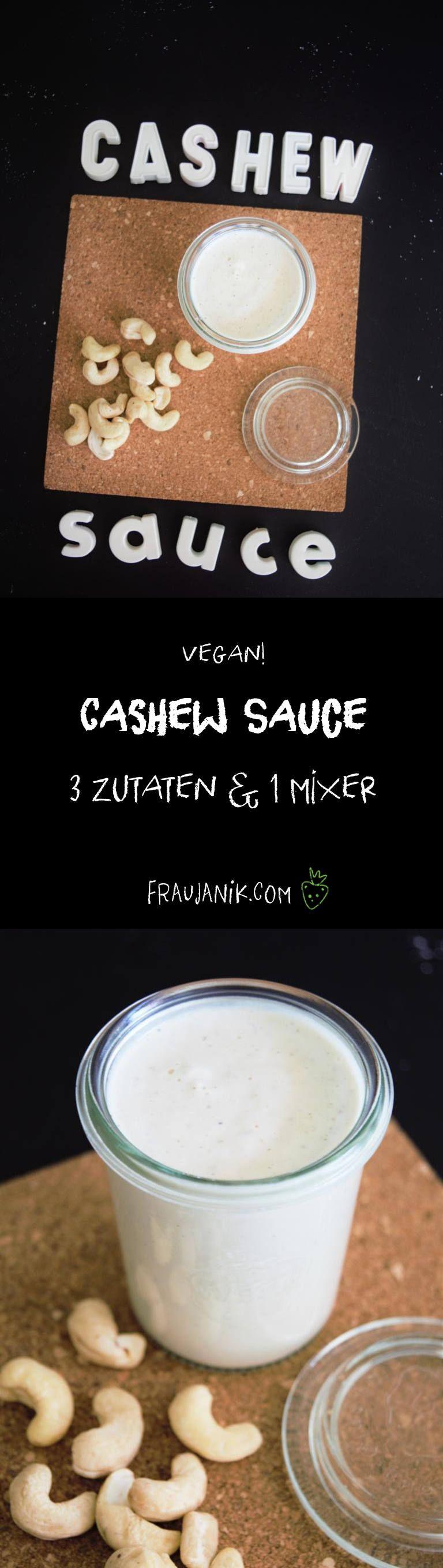 Die beste Cashew Sauce aus nur 3 Zutaten ohne kochen! Perfekt auf Zoodles, Dip oder Brotaufstrich!