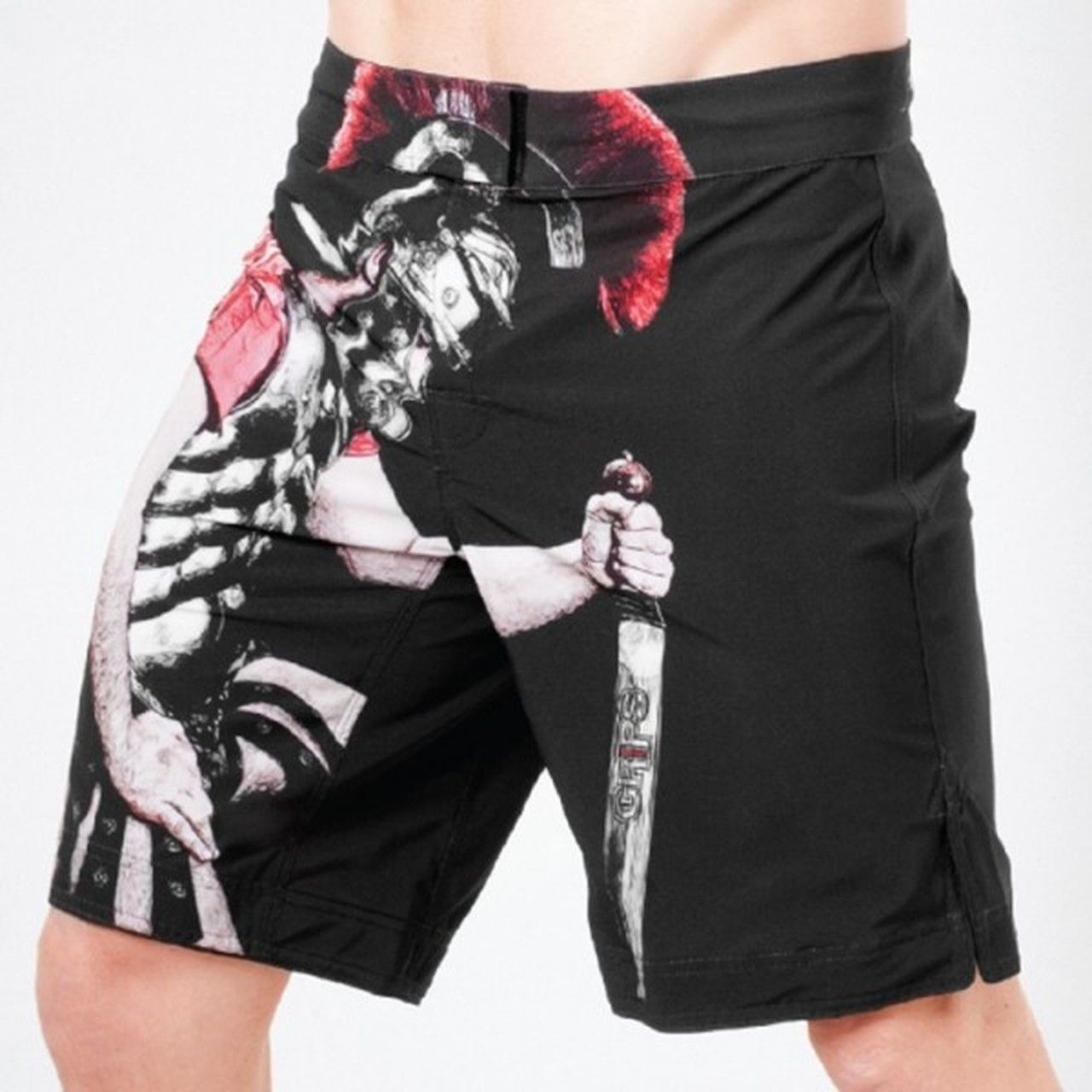 Grips Athletics Legionario Fight Shorts Black Fight Shorts Shorts Mma Shorts