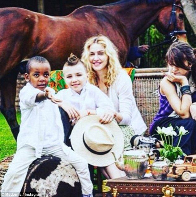 'Days of innocence': Madonna and her childrens Rocco, David Banda and Lourdes Leon