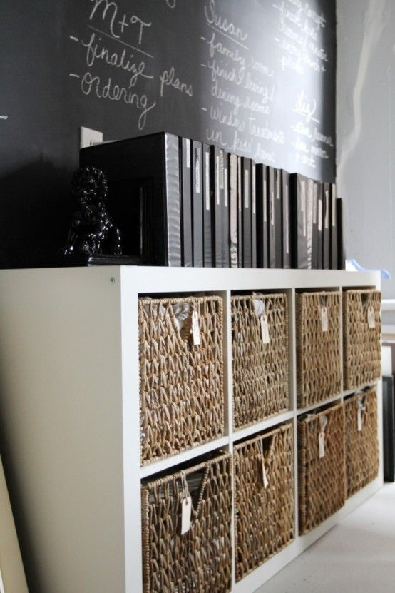 office storage baskets. 43 Cool And Thoughtful Home Office Storage Ideas | DigsDigs Baskets B
