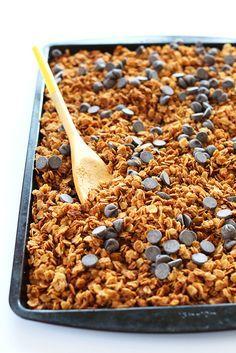 Peanut Butter Chocolate Chip Granola Recipe Food Baker Recipes Food Recipes