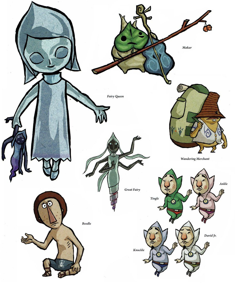 Legend of Zelda Link Dictionary Art