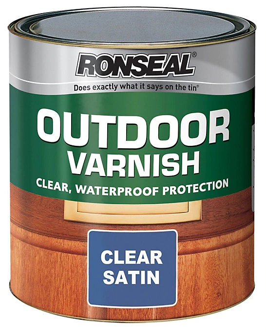 Ronseal Clear Satin Outdoor Varnish 2 5l In 2020 How To Varnish Wood Wood Treatment Staining Wood