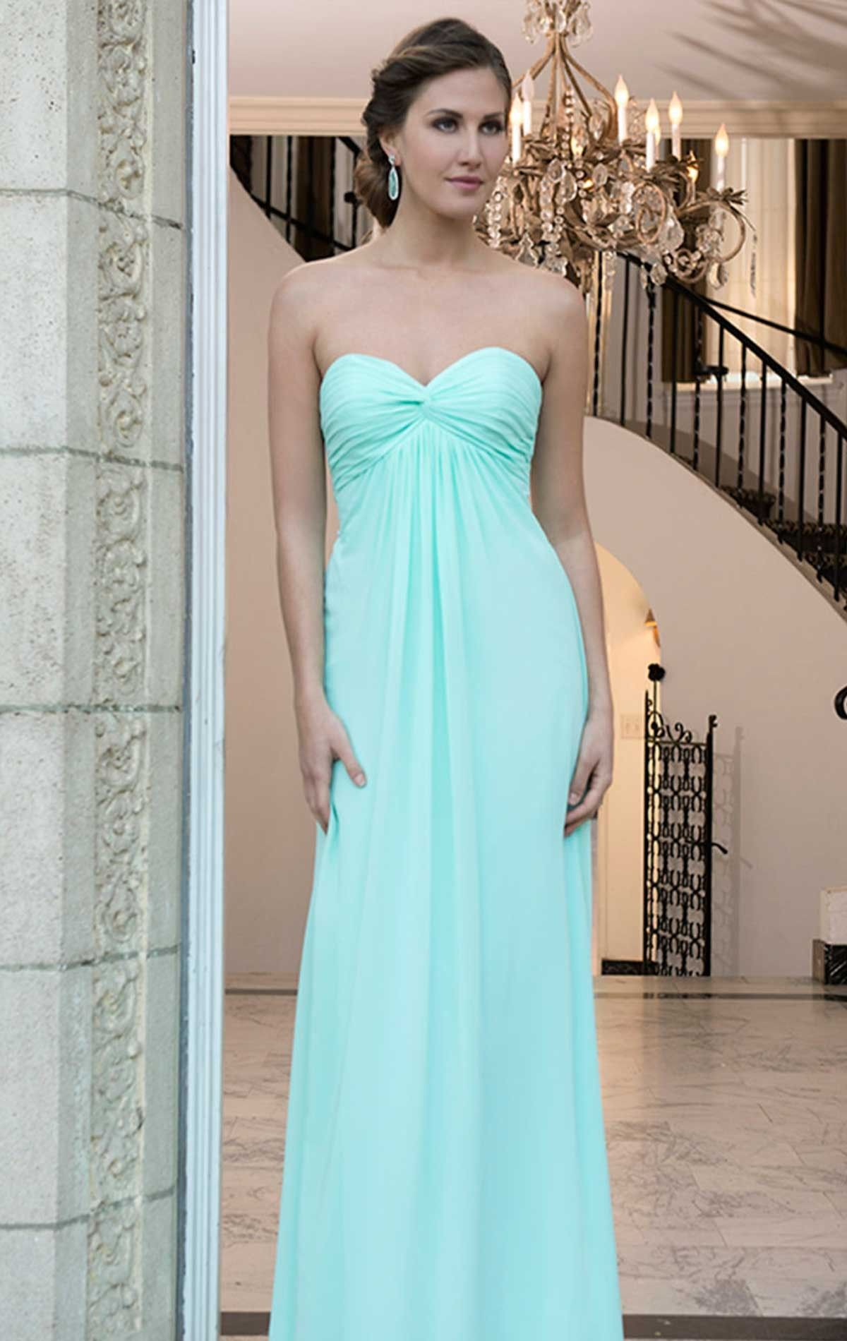 Bm2075 bridesmaid dress bm2075 ice mint green chiffon