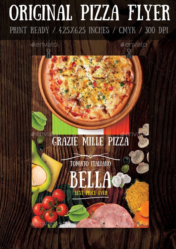 Original Pizza Flyer Template Flyer Template Template And Print