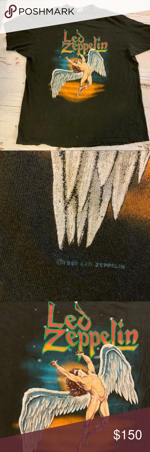 Vintage Led Zeppelin Swan Song 1990 T Shirt Xl Led Zeppelin Zeppelin T Shirts For Women
