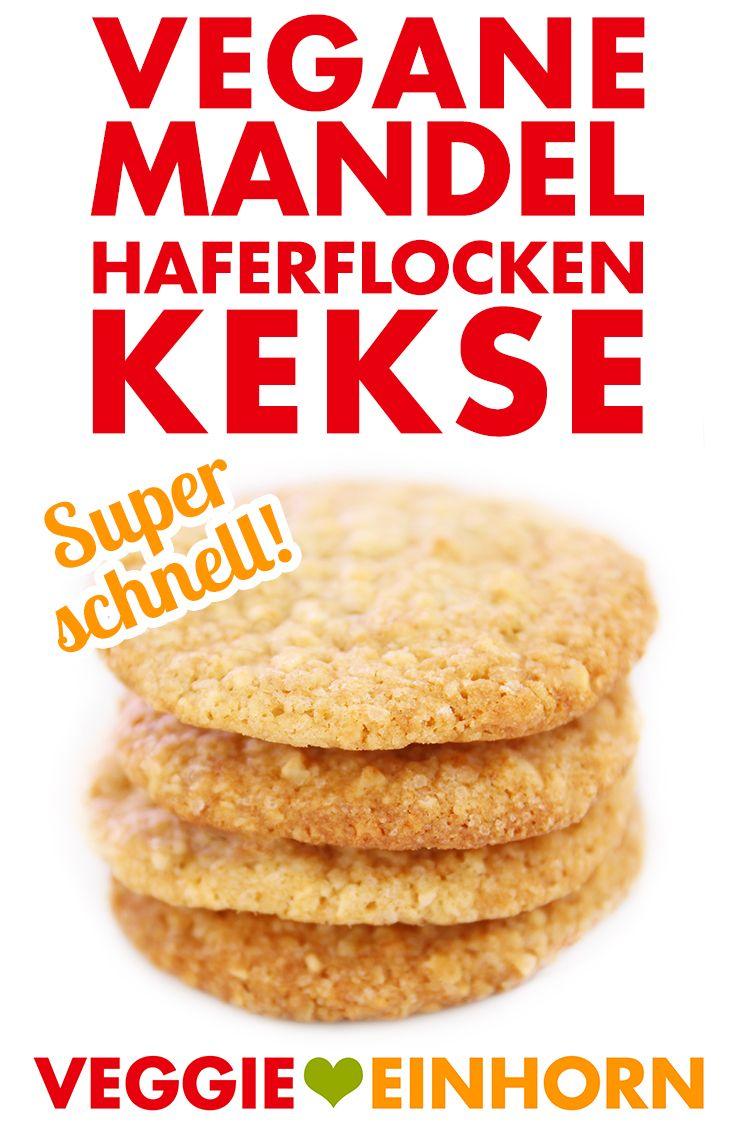 Vegane Kekse | MANDEL-HAFERFLOCKEN COOKIES