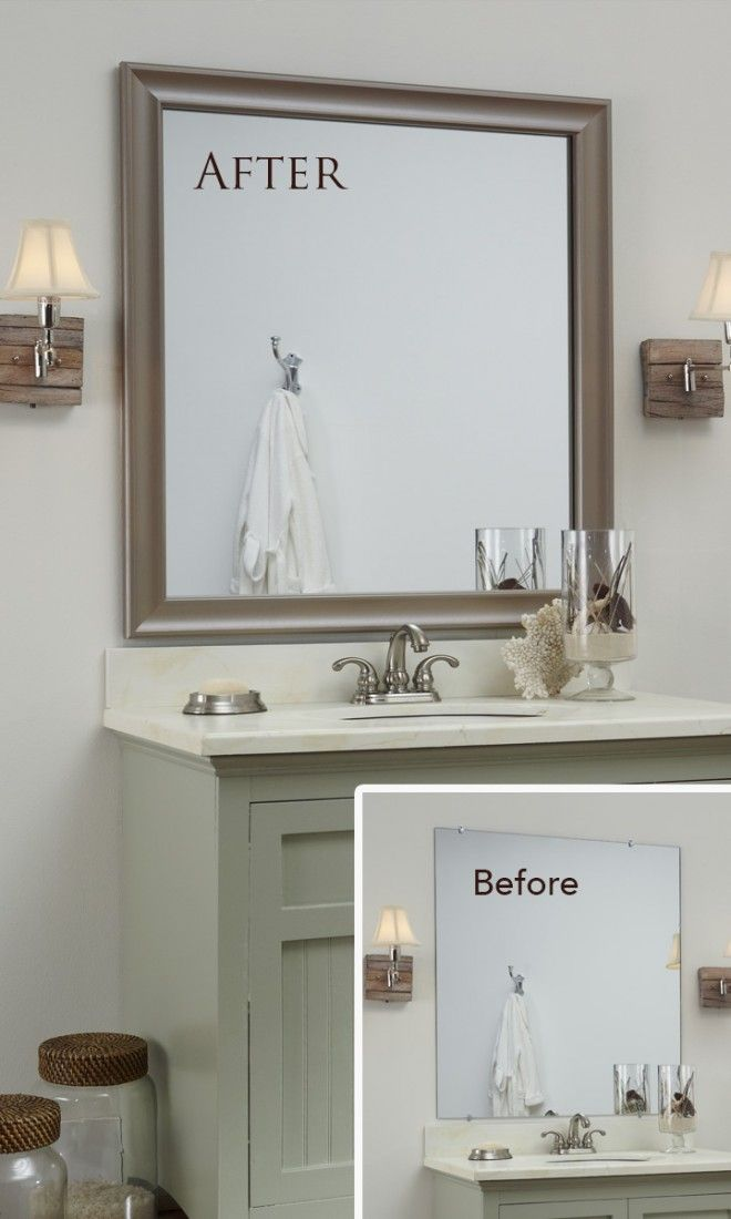 A MirrorMate frame for the mirror: an easy, inexpensive update with ...