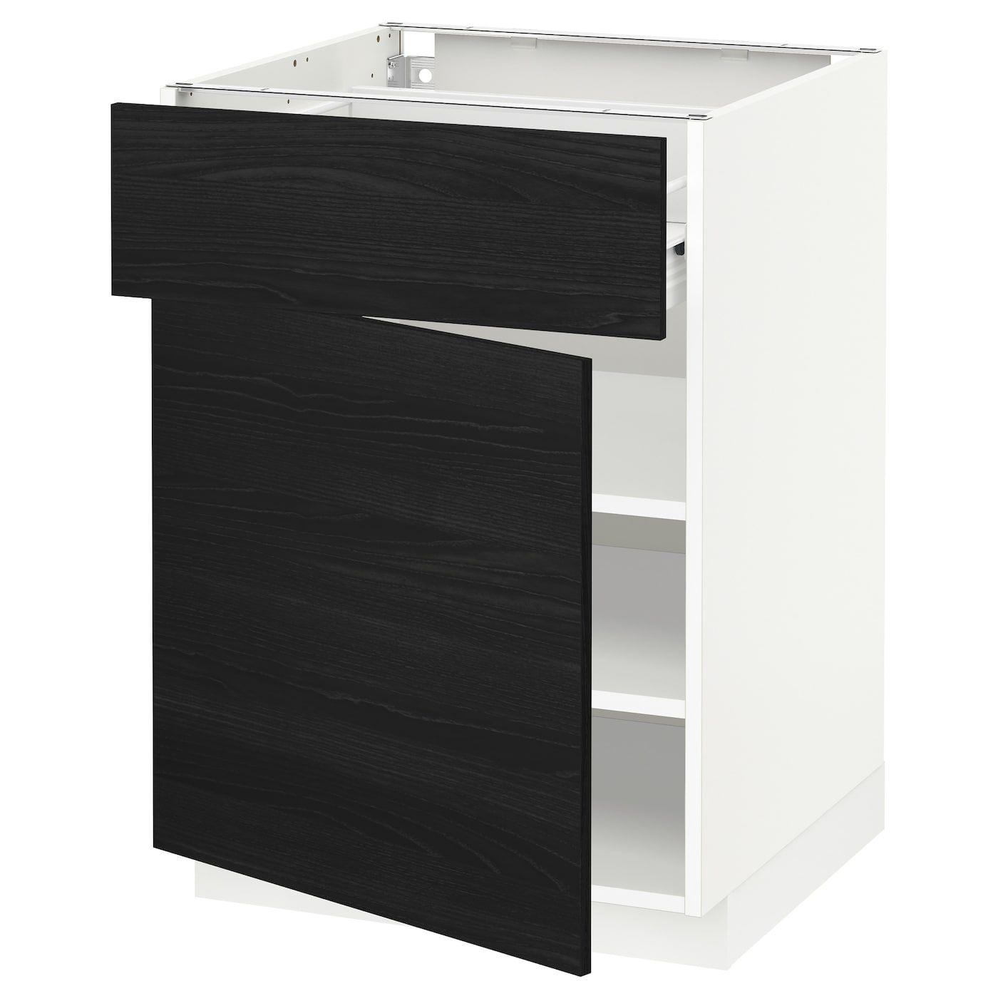 Metod Forvara Weiss Unterschrank Mit Schublade Tur Frame Colour In 2020 Unterschrank Schubladen Und Ikea